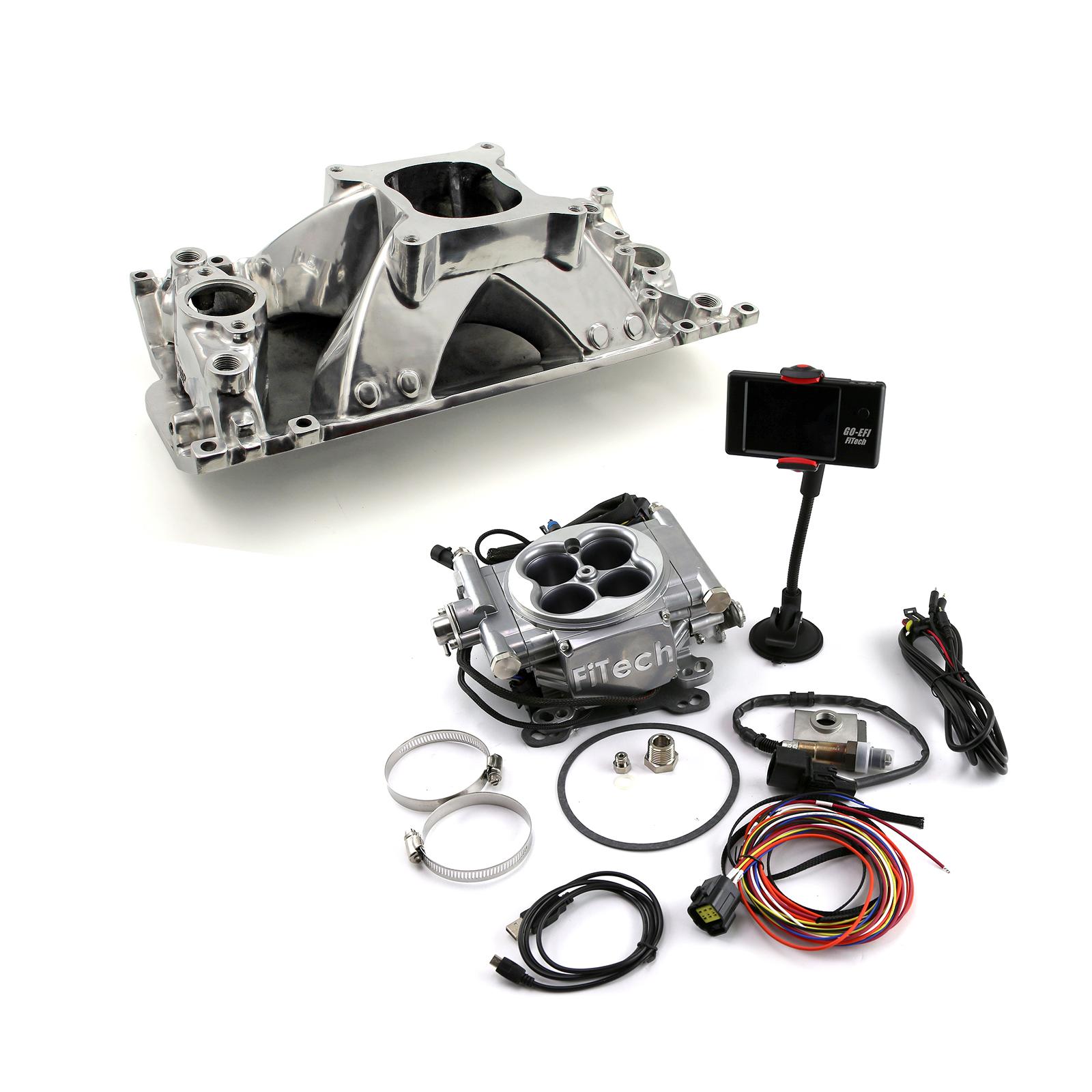 Chevy BBC 454 Holeshot Oval Port Manifold & FiTech Go EFI 30001 Fuel Injection