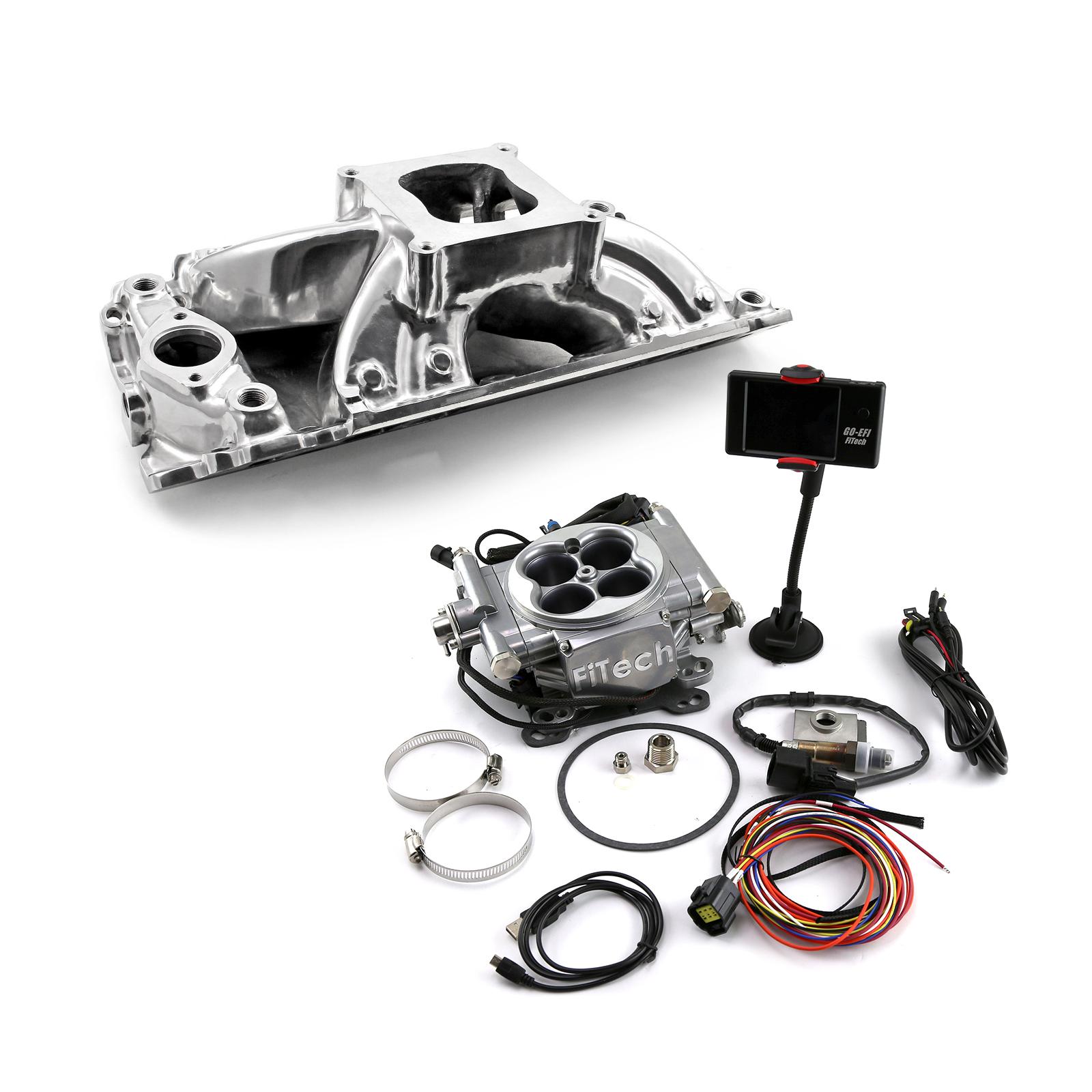 Chevy BBC 454 Shootout Rect Port Manifold & FiTech Go EFI 30001 Fuel Injection