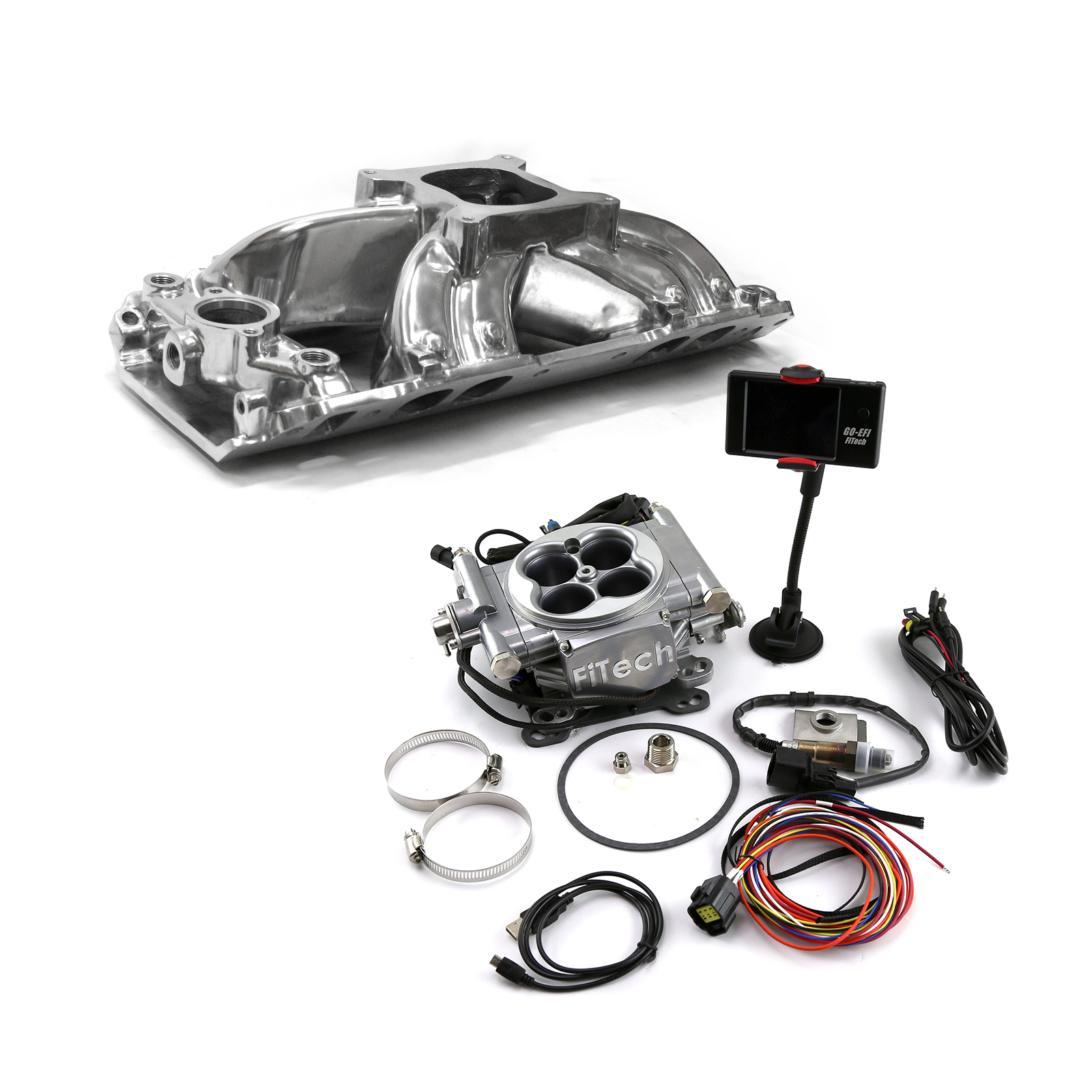 Chevy BBC 454 Shootout Oval Port Manifold & FiTech Go EFI 30001 Fuel Injection