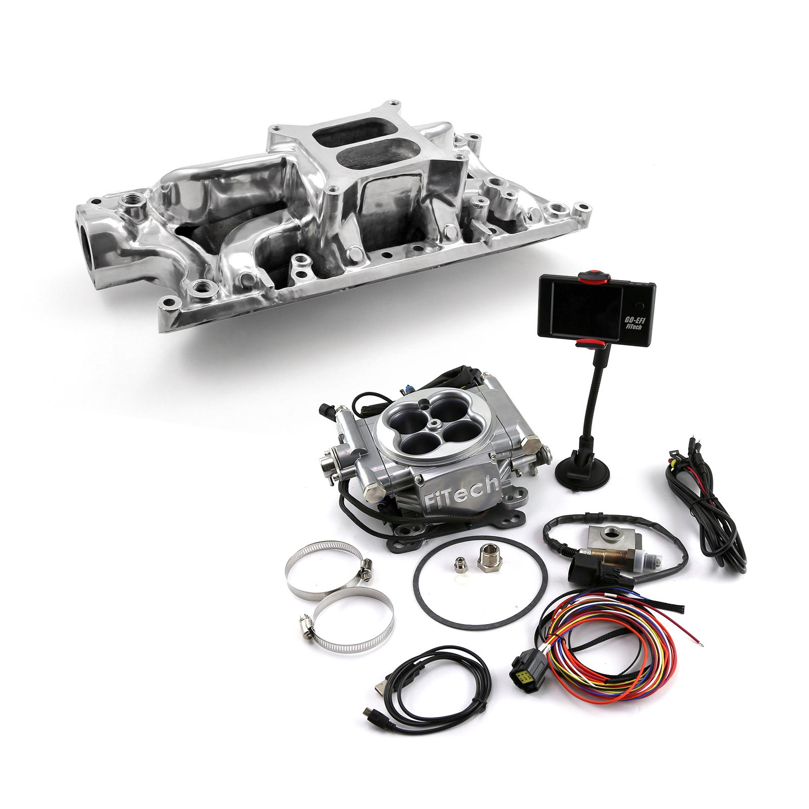 Ford SB 289 302W Eliminator Manifold & FiTech Go EFI 30001 Fuel Injection
