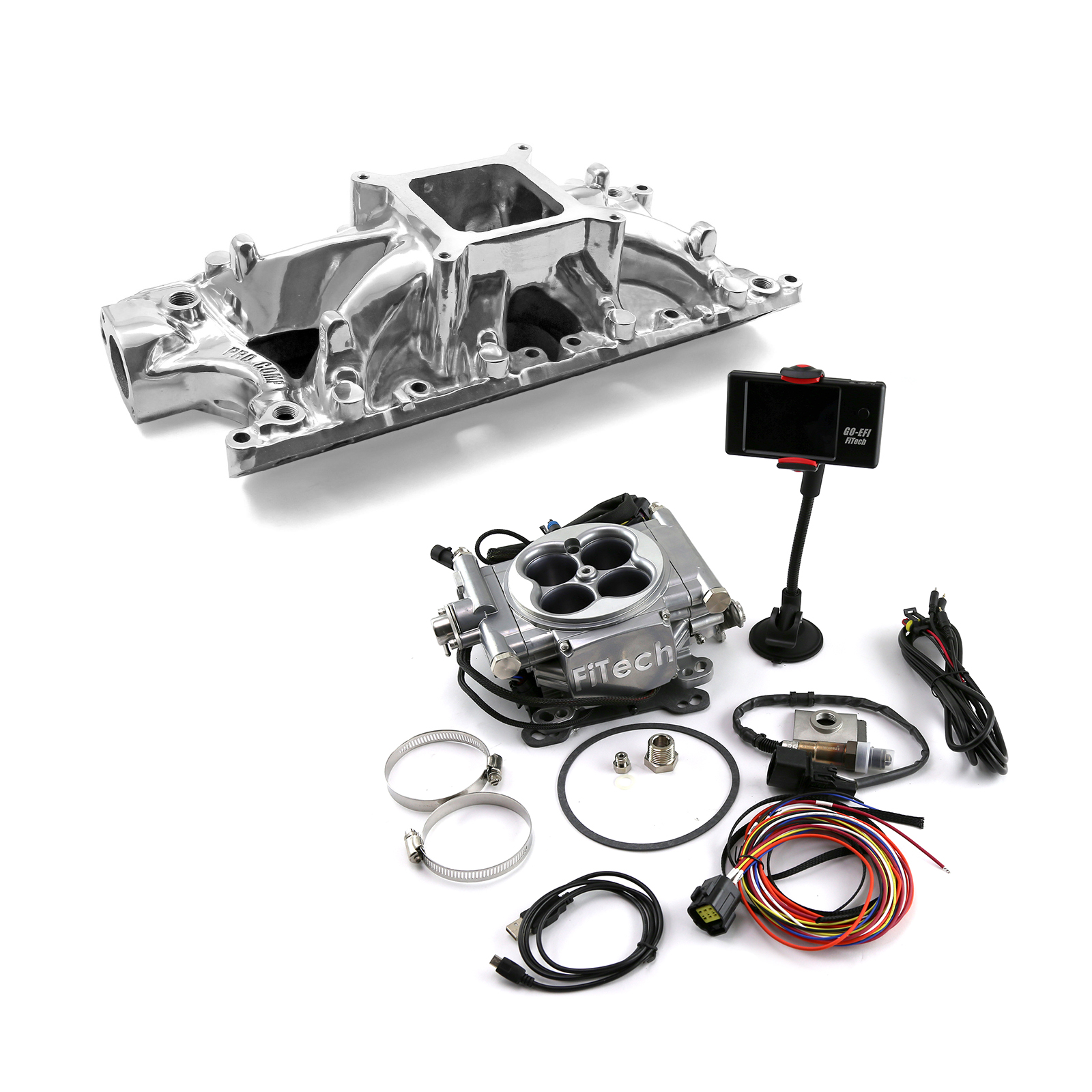 Ford SB 289 302W Shootout Manifold & FiTech Go EFI 30001 Fuel Injection