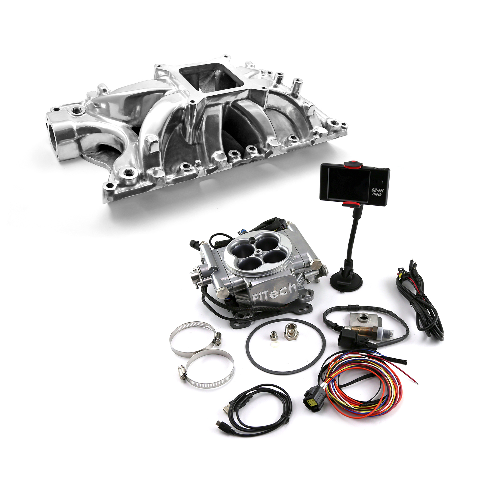 Ford 351W Windsor Shootout Manifold & FiTech Go EFI 30001 Fuel Injection