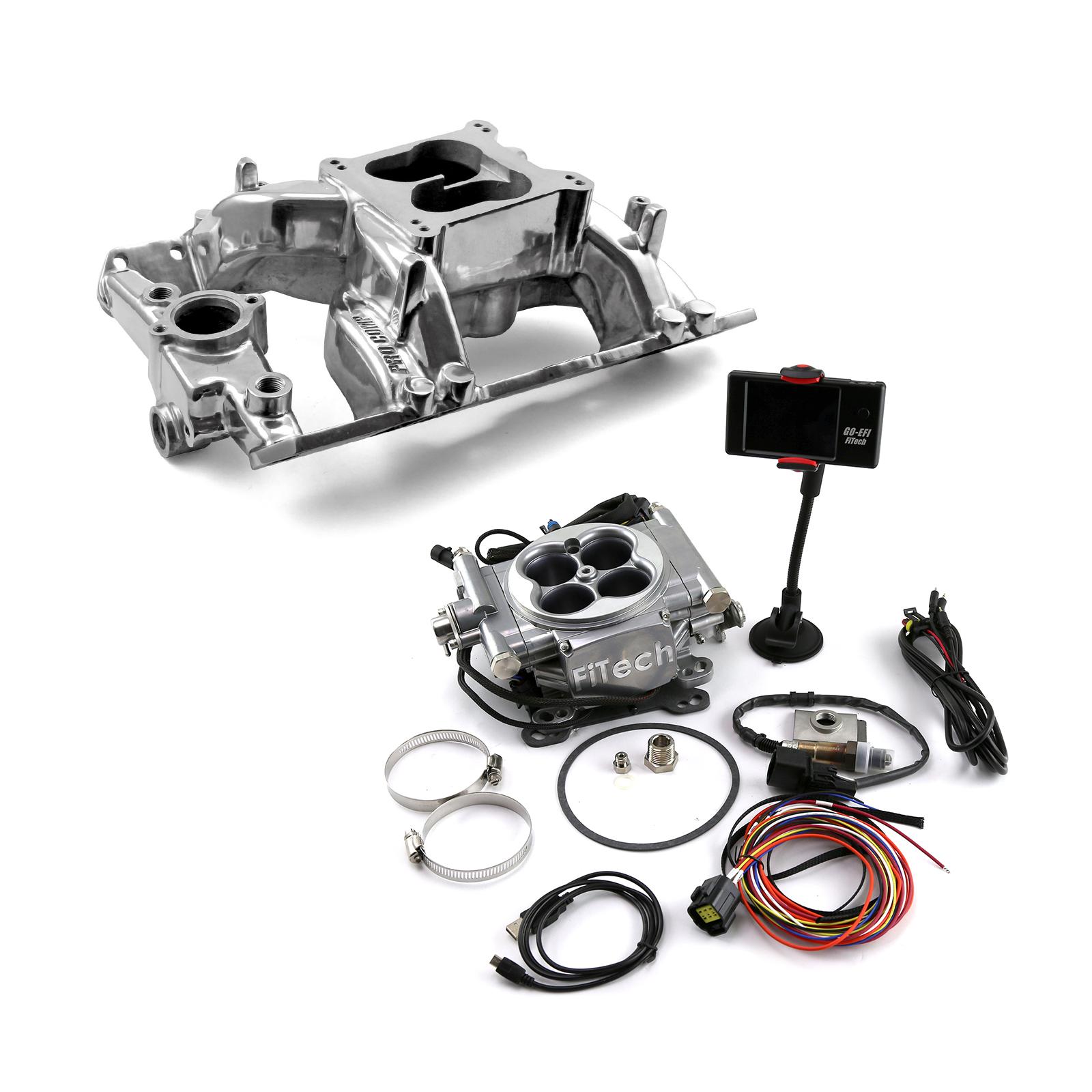 Pontiac V8 Eliminator Manifold & FiTech Go EFI 30001 Fuel Injection