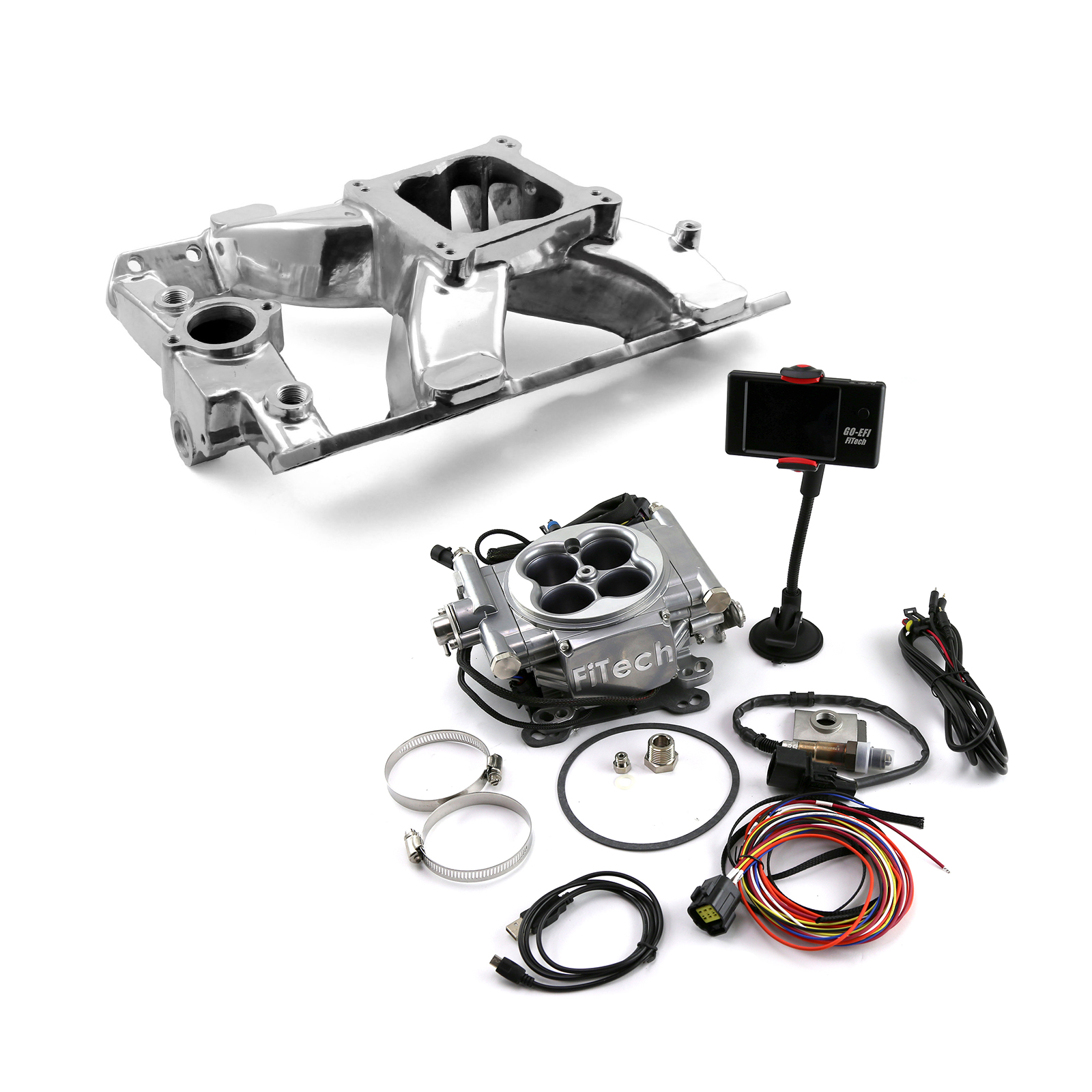 Pontiac V8 Shootout Manifold & FiTech Go EFI 30001 Fuel Injection
