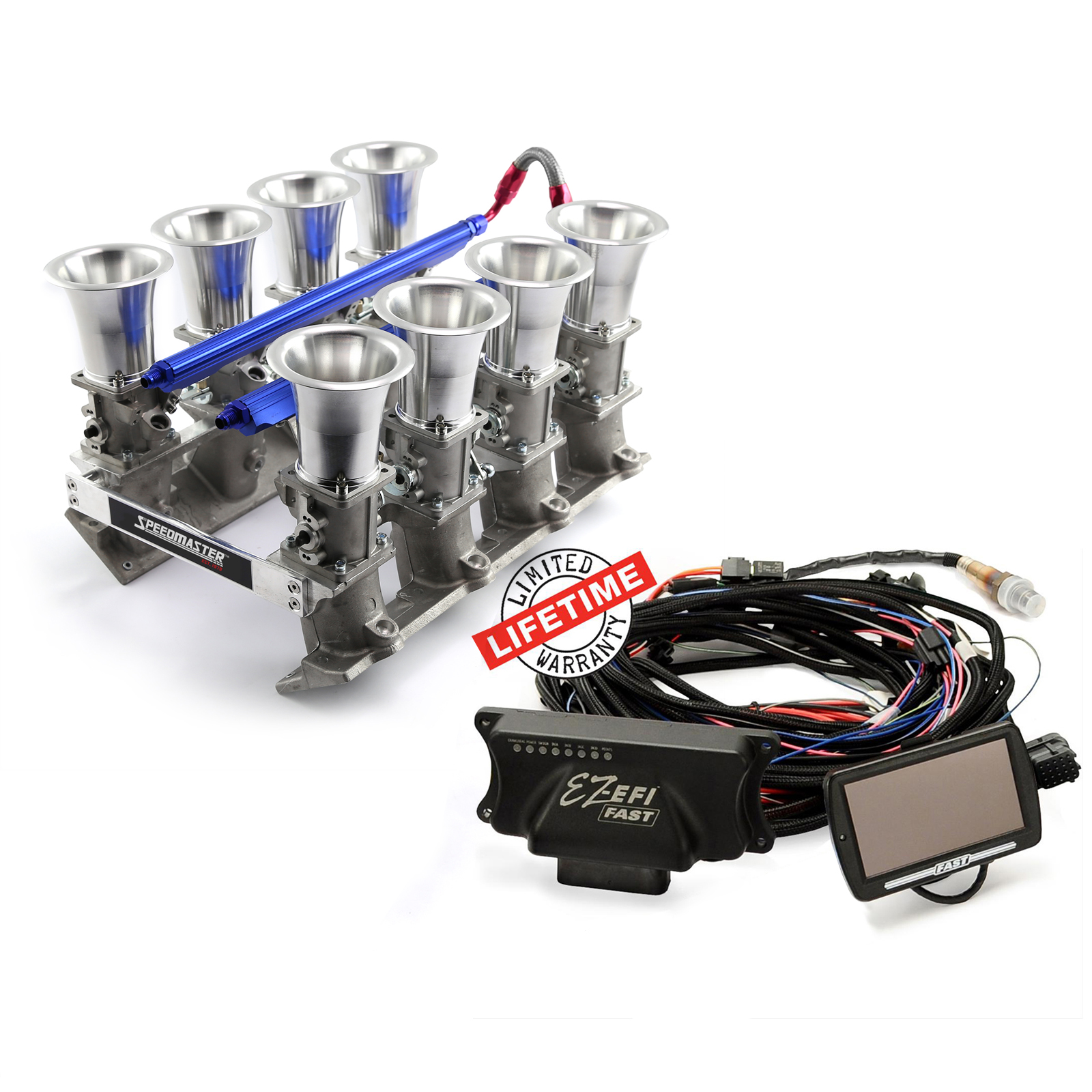 FAST, PCE® PCE148.1075 Chevy GM LS3 EFI Manifold & FAST EZ-EFI 2.0 Self-Tuning Fuel Injection System