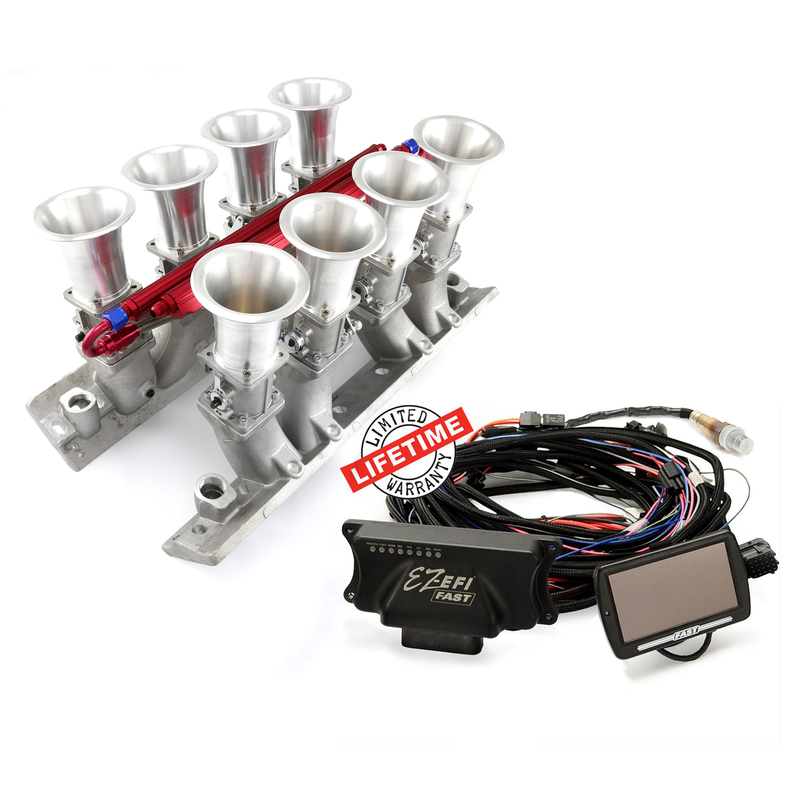FAST, PCE® PCE148.1076 Chevy BBC 454 EFI Manifold & FAST EZ-EFI 2.0 Self-Tuning Fuel Injection System
