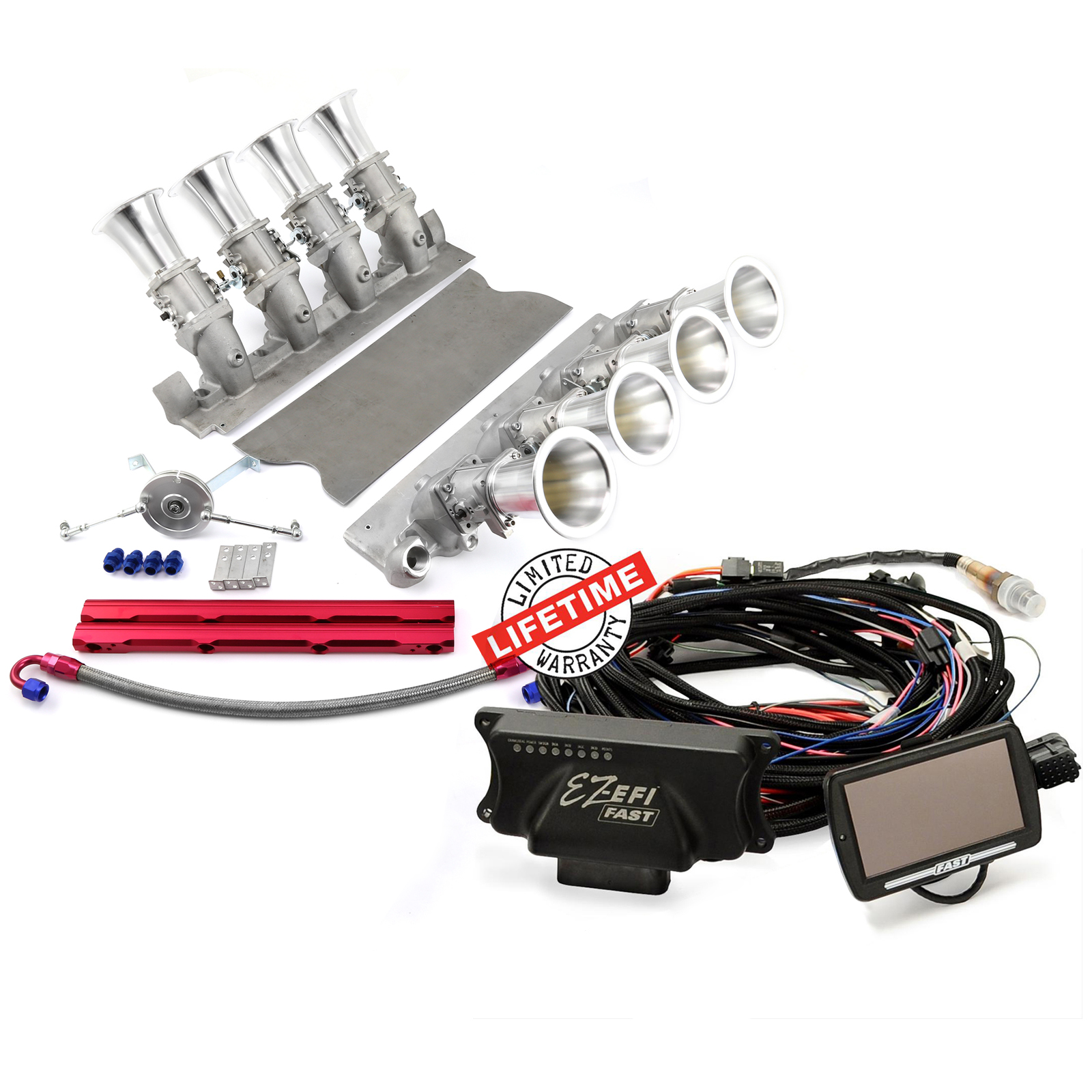 FAST, Speedmaster® PCE148.1077 Ford 302 351C Manifold 30404 FAST EZ-EFI 2.0 Self-Tuning Fuel Injection System