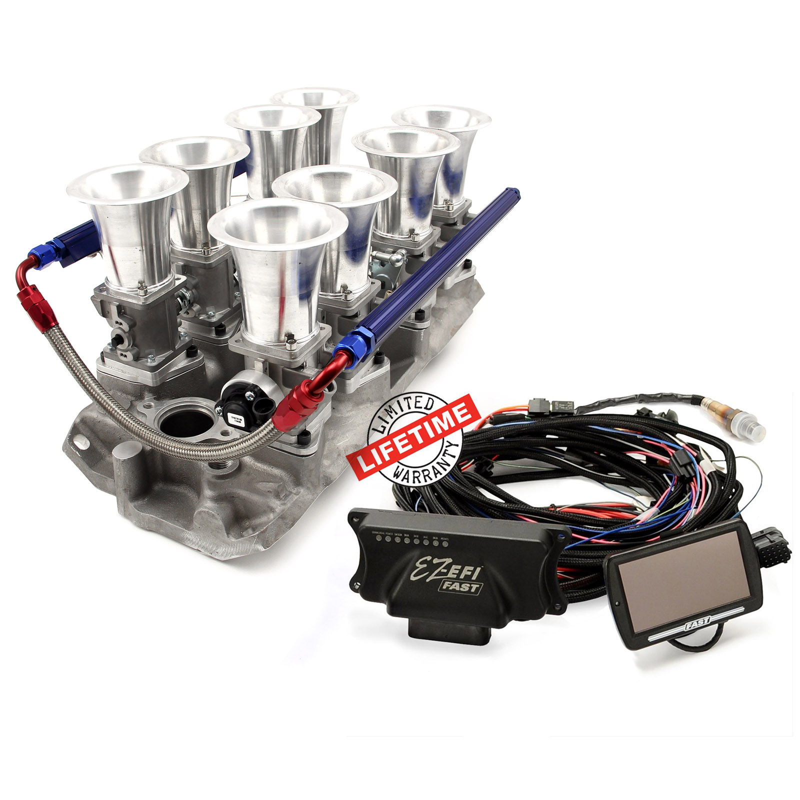 Chevy SBC 350 Manifold & FAST EZ-EFI 2.0 Self-Tuning Fuel