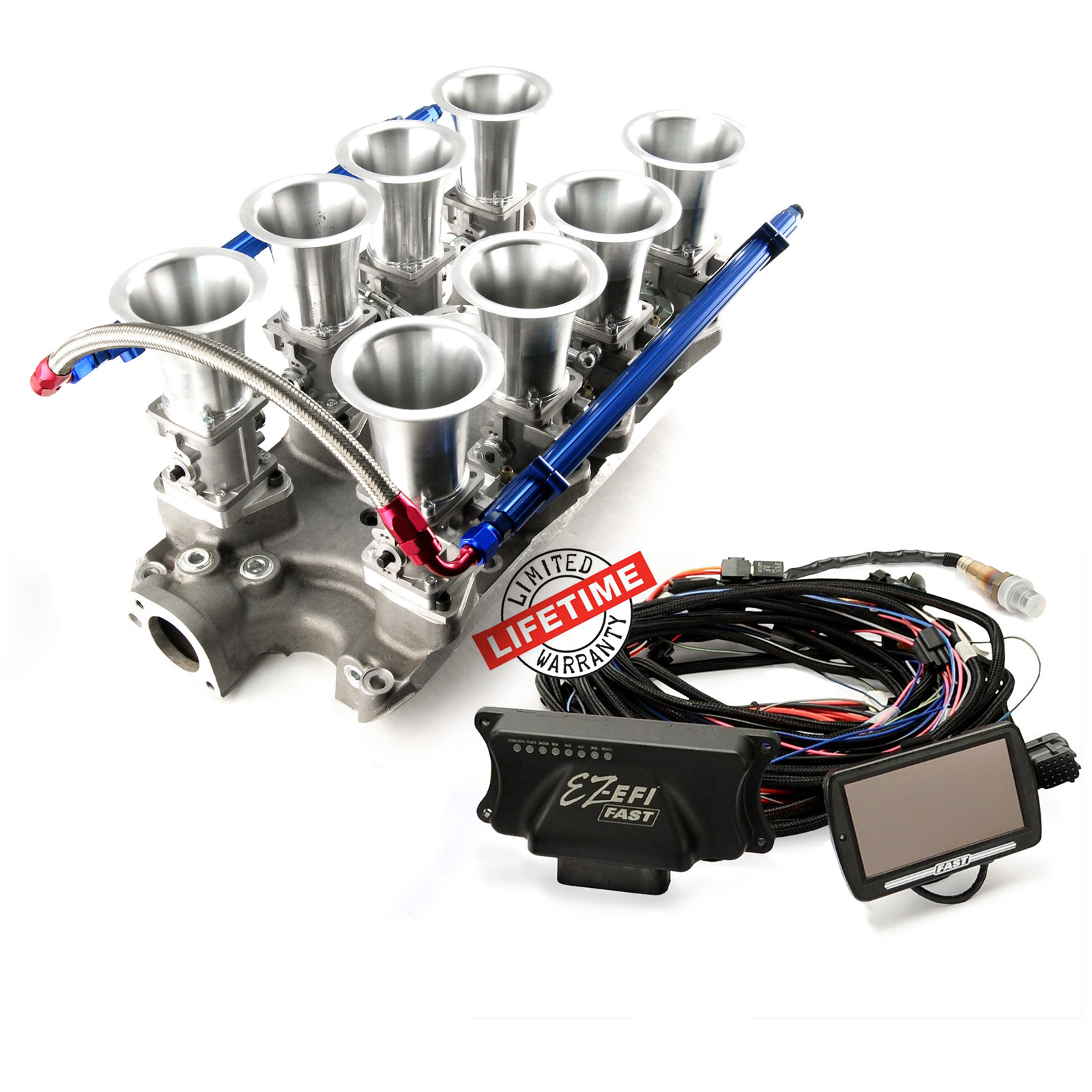Ford SB 289 302 Windsor Manifold & 30404 FAST EZ-EFI 2.0 Fuel Injection System