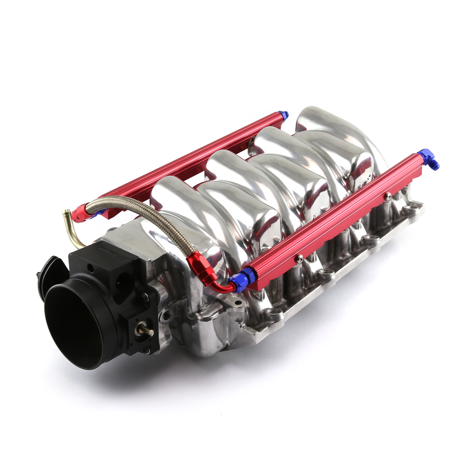 Chevy LS2 Polished Aluminum Intake Manifold With 90mm