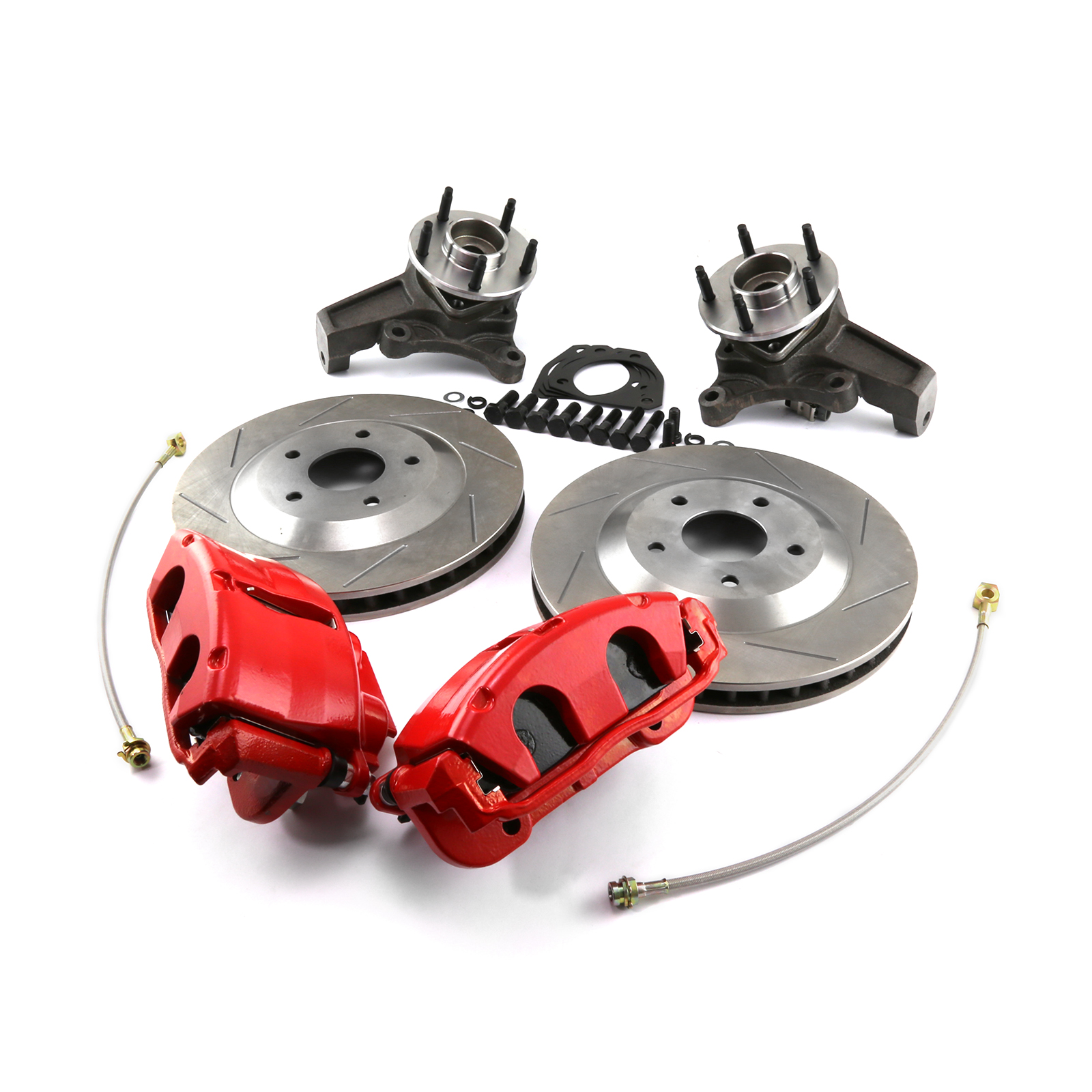 "GM C5 Corvette 13"" Slotted Front Disc Brake Conversion Kit"