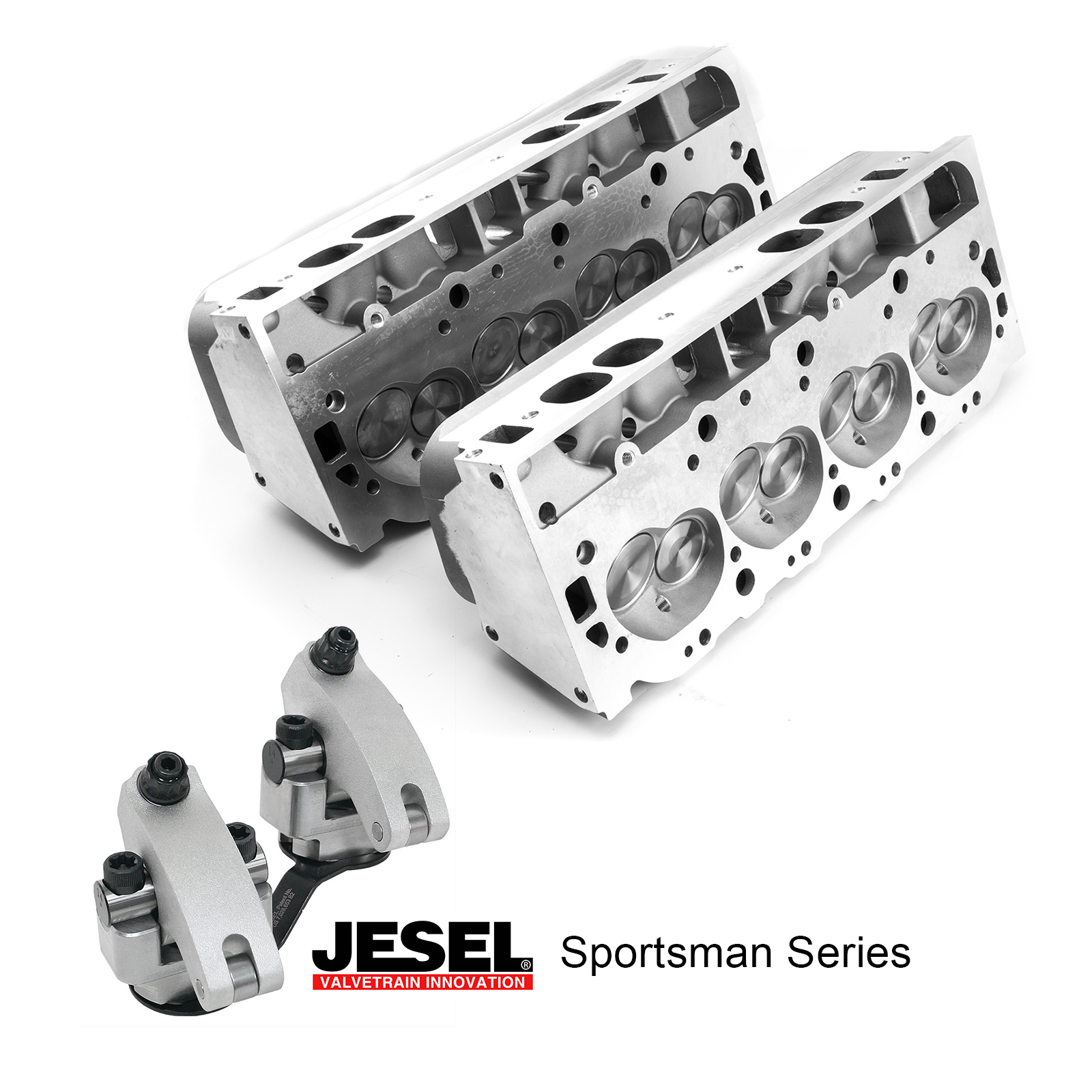 Chevy BB 454 JESEL Solid Roller Race Package - 360cc Aluminum Cylinder Heads