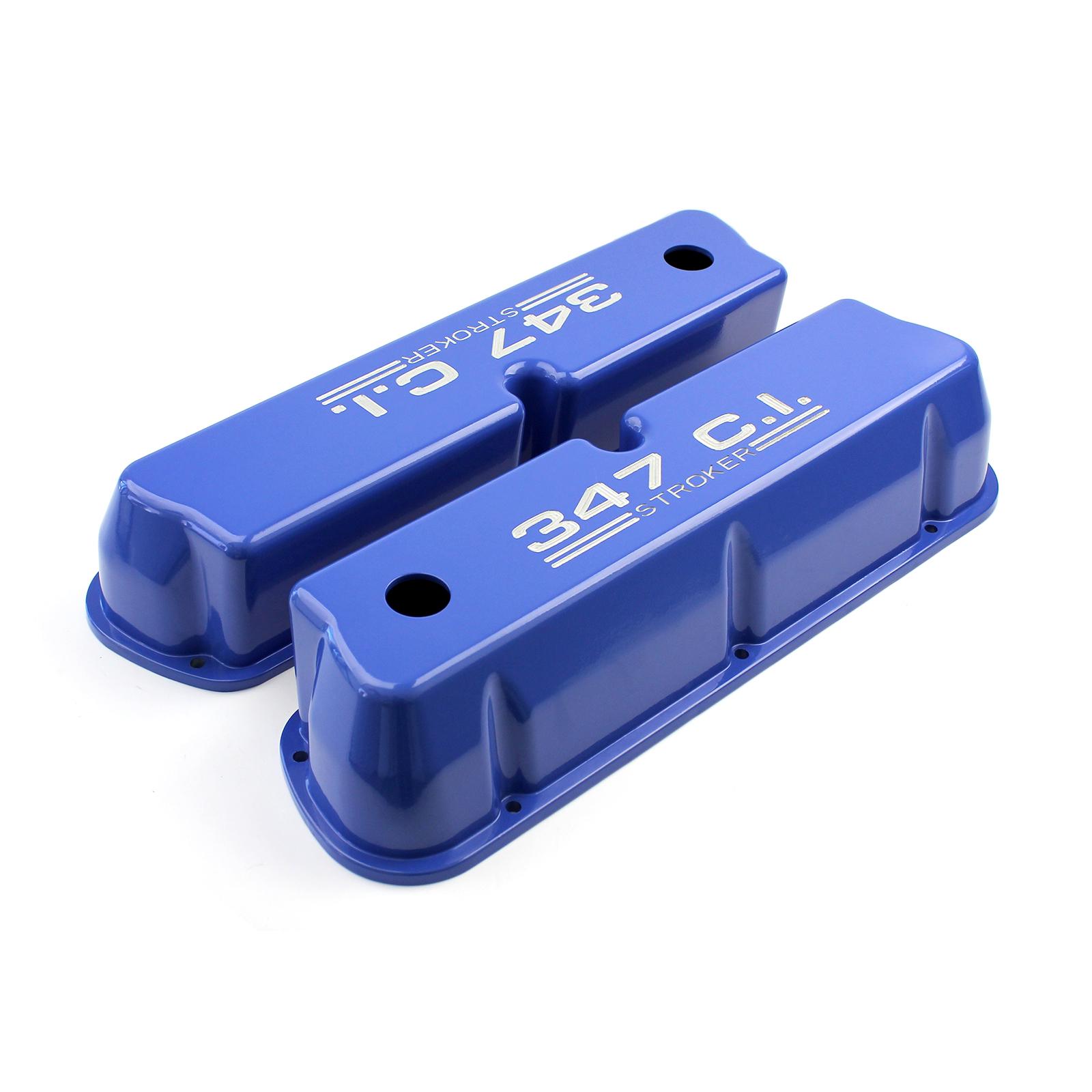 ford sb    windsor ci blue aluminum valve covers tall