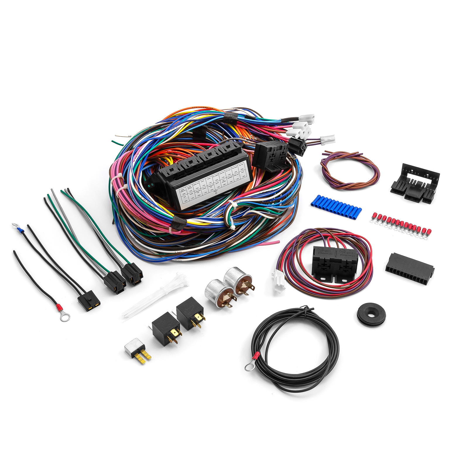 Universal Auto Wiring Harness Kits Diagrams Street Rod 20 Circuit Kit Hot Trailer Tail Light Jegs Electric Fan