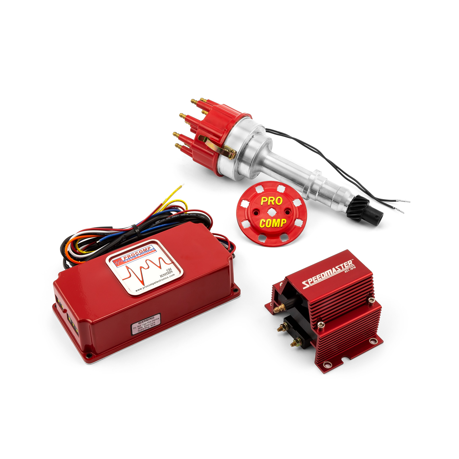 Pontiac 326 400 455 Pro Billet Distributor 6AL CDI Ignition & Coil Kit