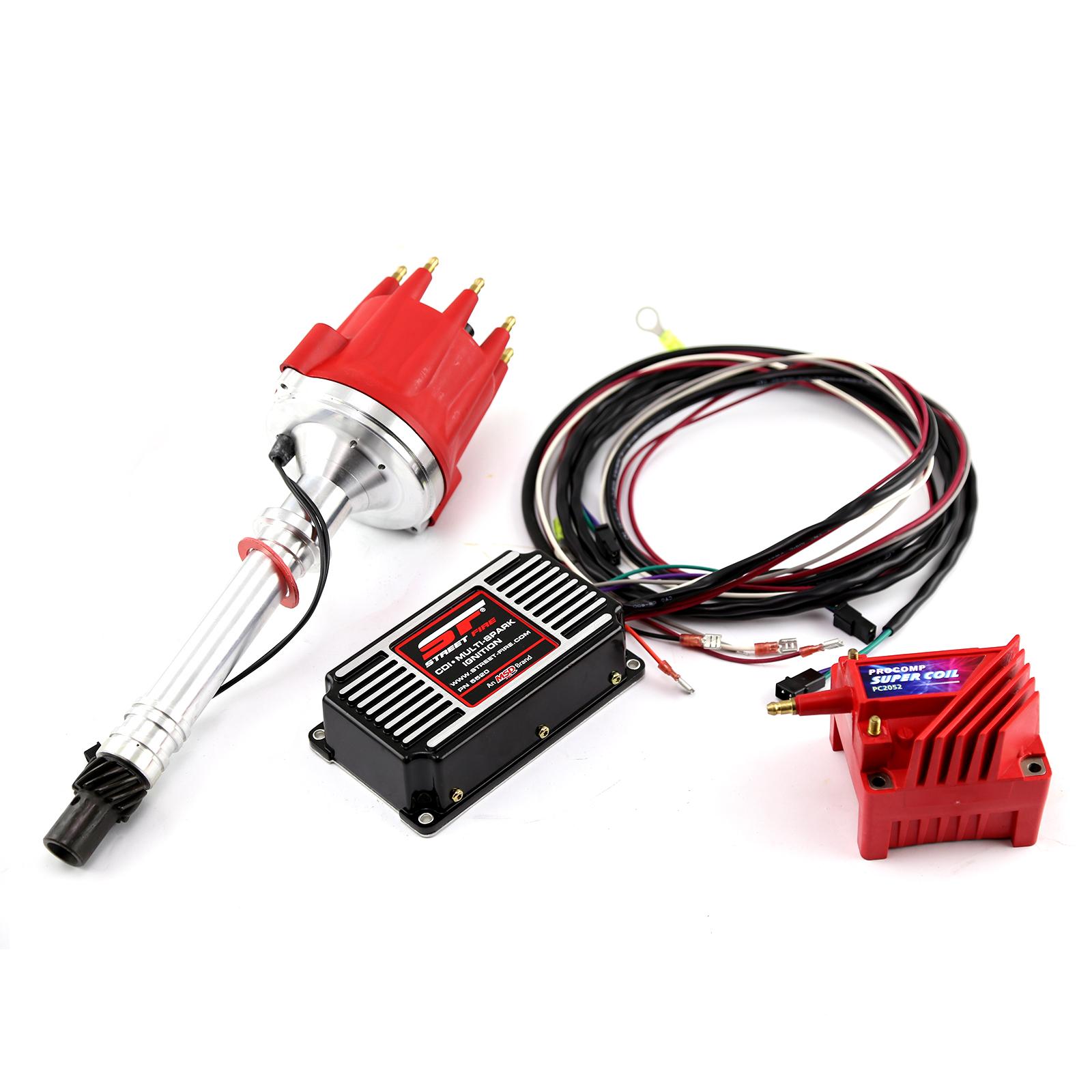 Chevy SBC 350 BBC 454 Pro Billet Distributor MSD CDI 5520 Ignition & Coil Kit