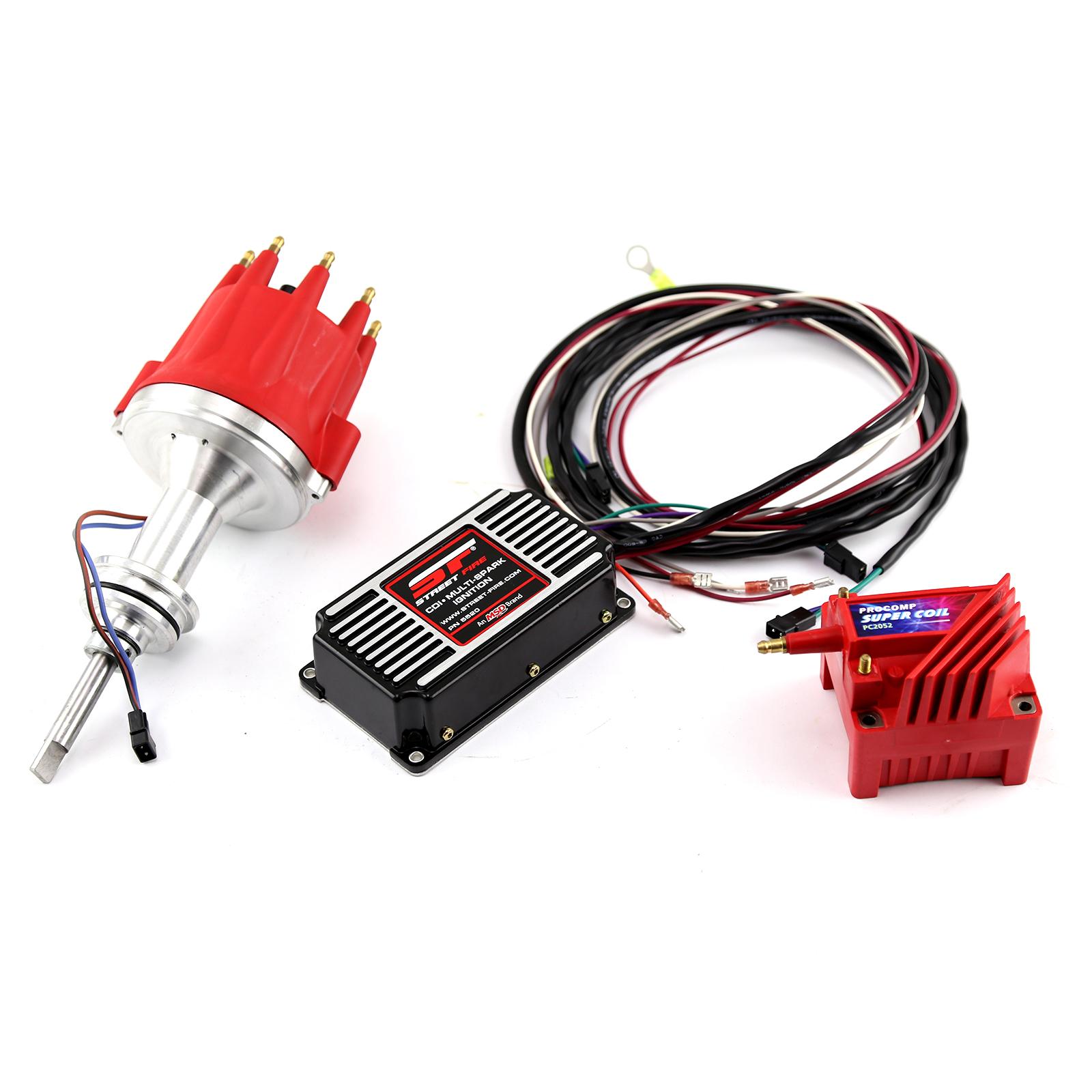 Mopar Chrysler BB 440 Pro Billet Distributor MSD CDI 5520 Ignition & Coil Kit