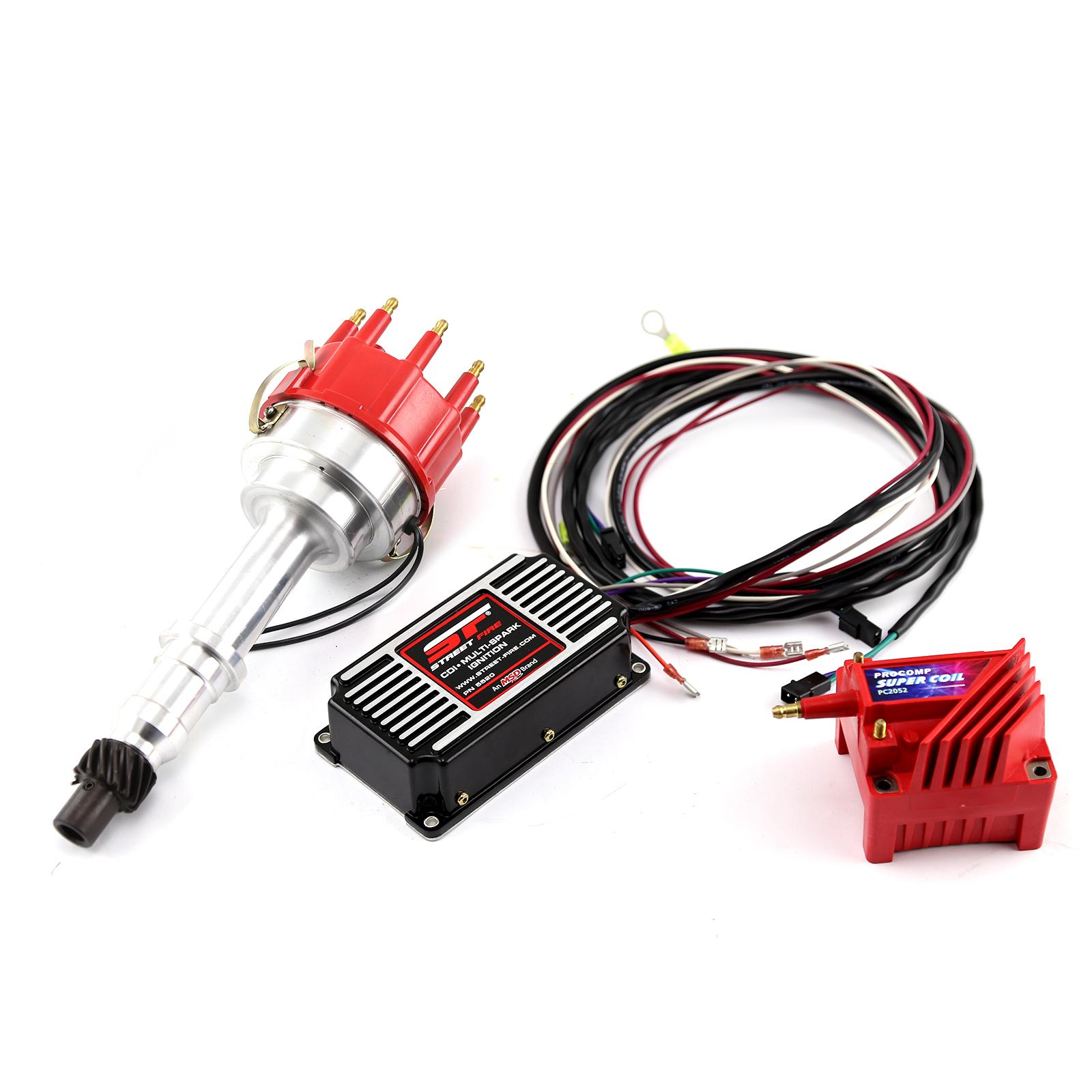 Pontiac 326 400 455 Pro Billet Distributor MSD CDI 5520 Ignition & Coil Kit