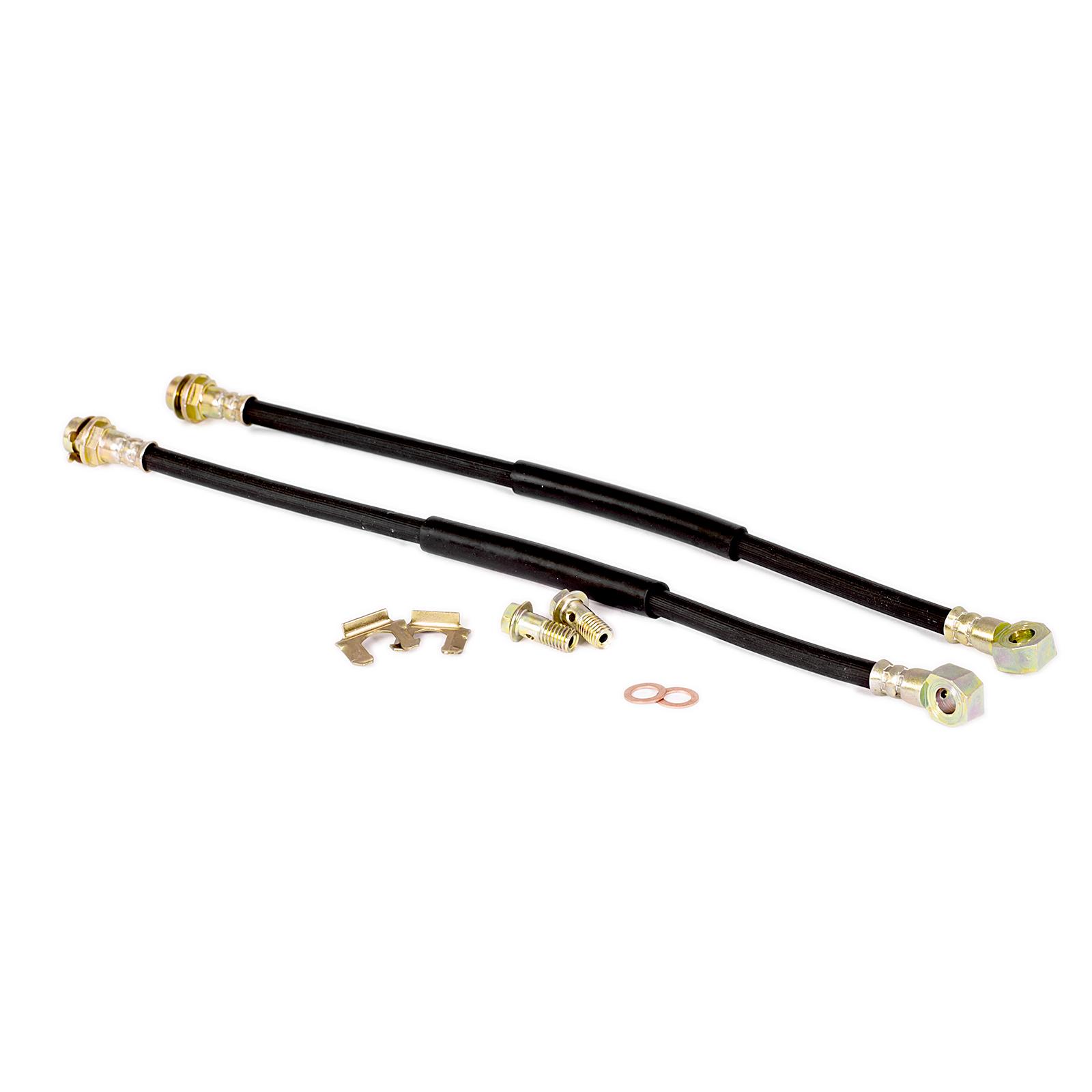 Brake Line Hardware : Mm banjo quot long rubber brake lines with hardware ebay