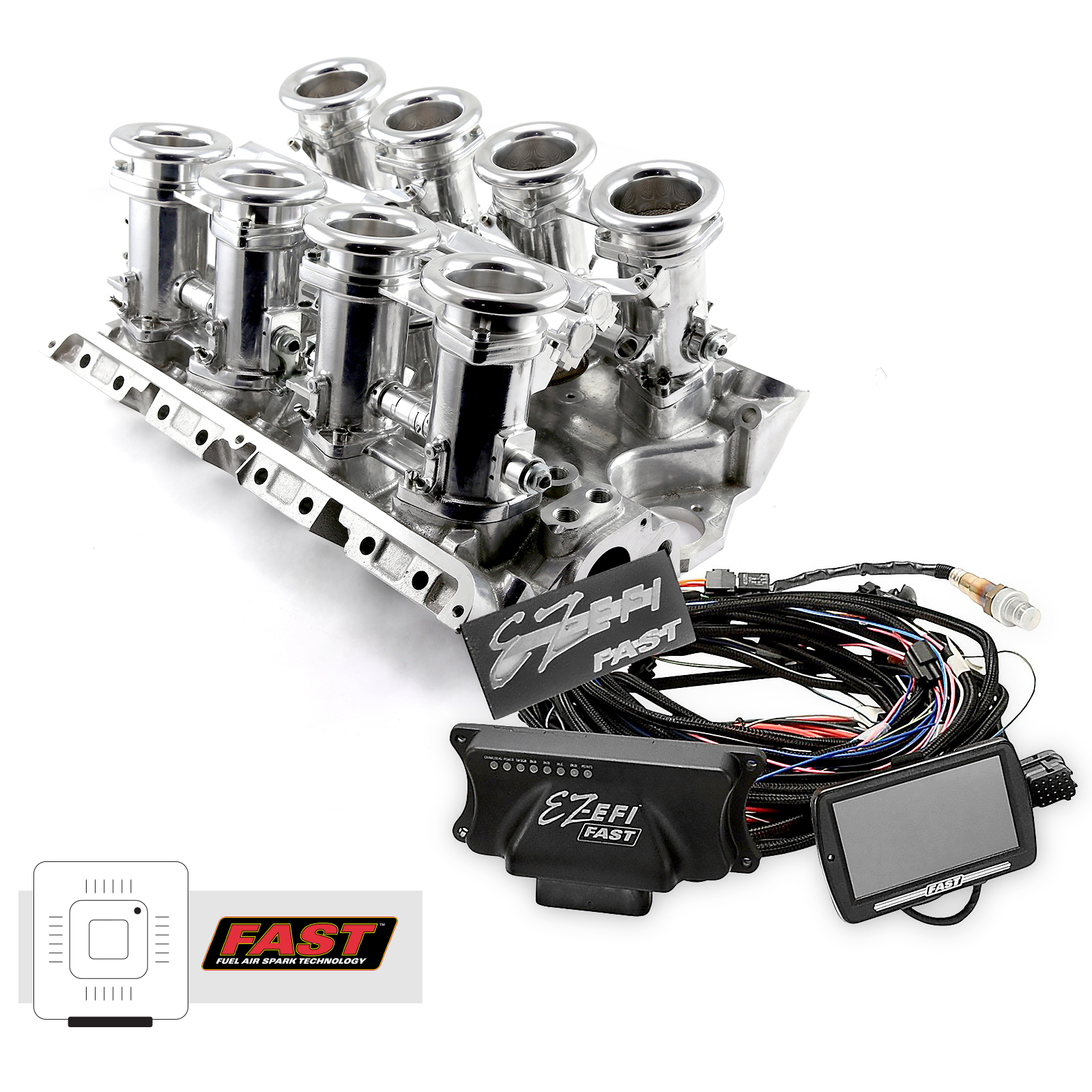 Ford FE 390 427 Downdraft + FAST EZ-EFI 2.0 Fuel Injection System - Polished