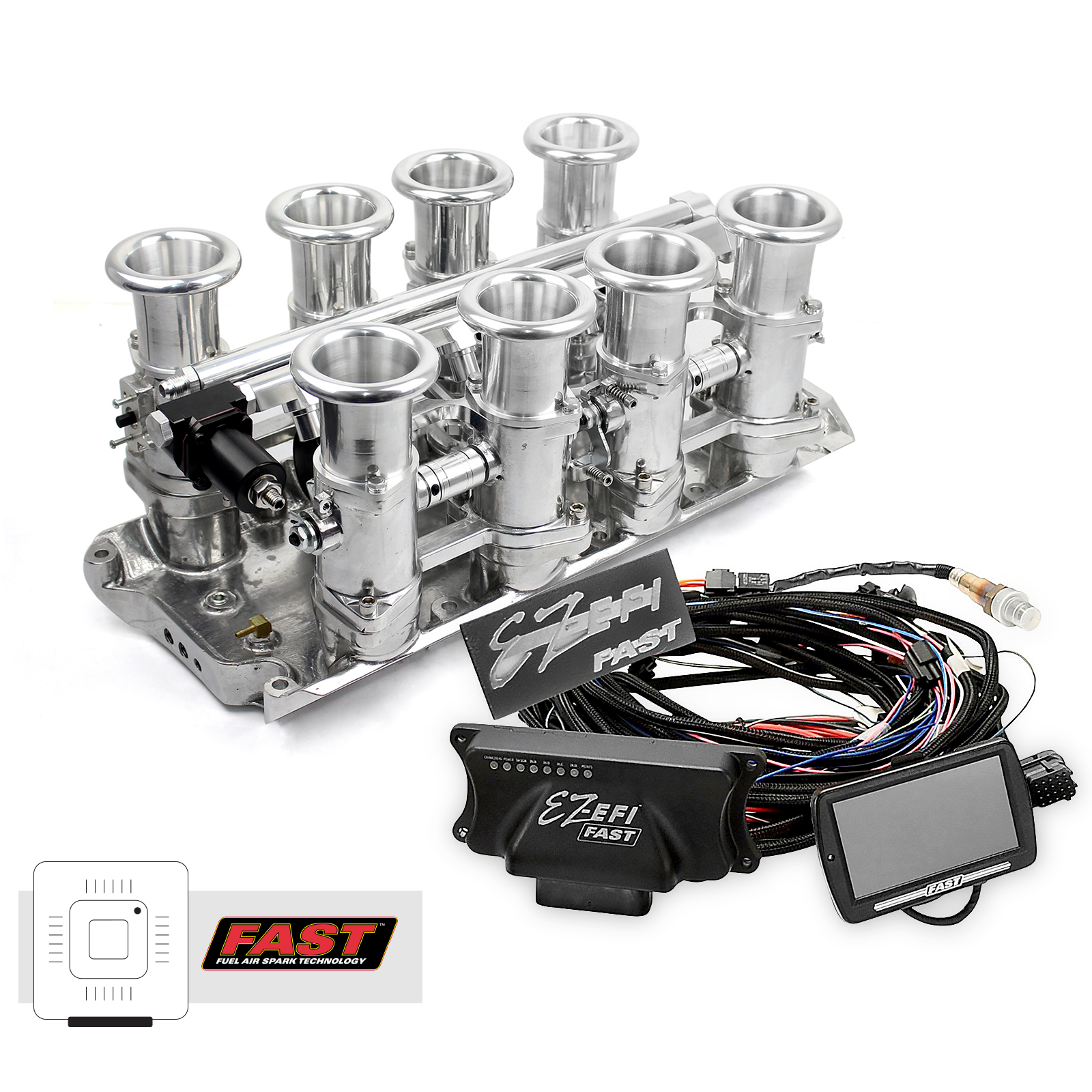 Ford SB 260 289 302 Windsor Downdraft + FAST EZ-EFI 2.0 Fuel Injection System