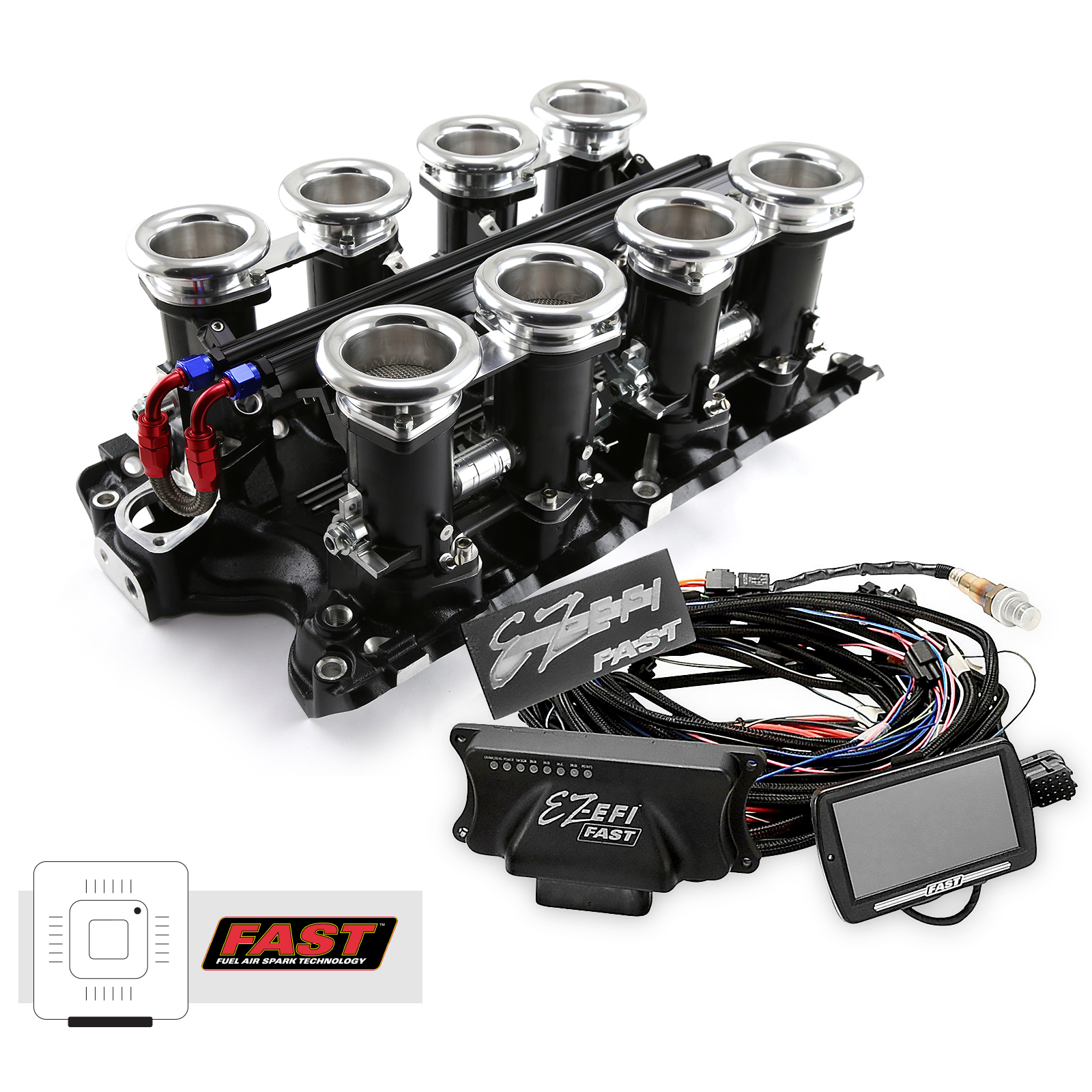 Ford BB 460 Downdraft + FAST EZ-EFI 2.0 Fuel Injection System - Black